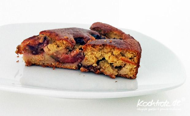 Pflaumenkuchen mit Kichererbsenmehl, ein metabolic balance ...