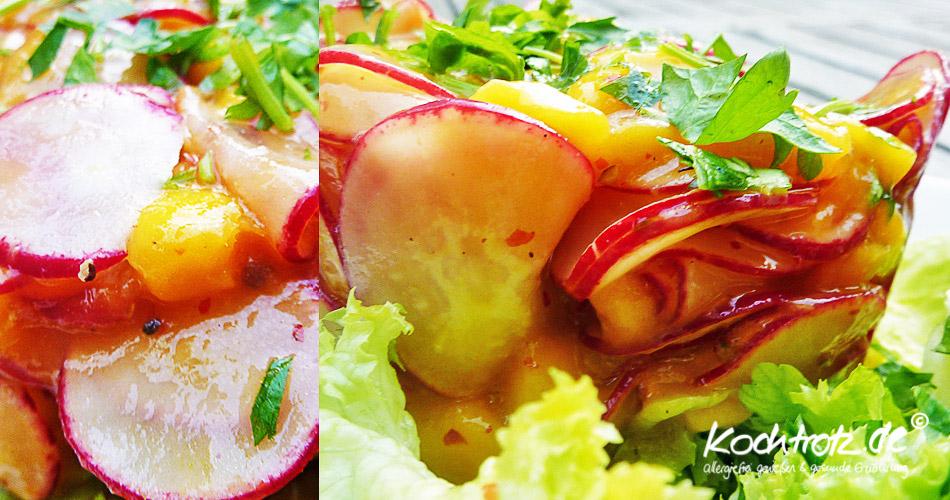 Radieschen-Mango-Salat Update