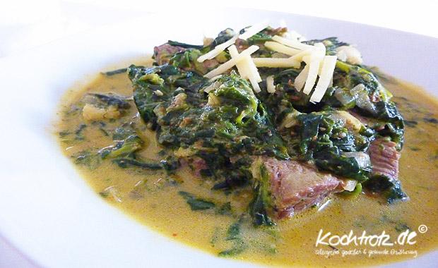 Saag Gosht - Lamm mit Spinat, indisch