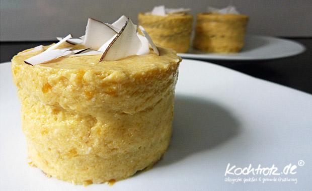 Mango Kokos Tofu Tortchen Mit Schoko Dinkel Biskuit Ei Und