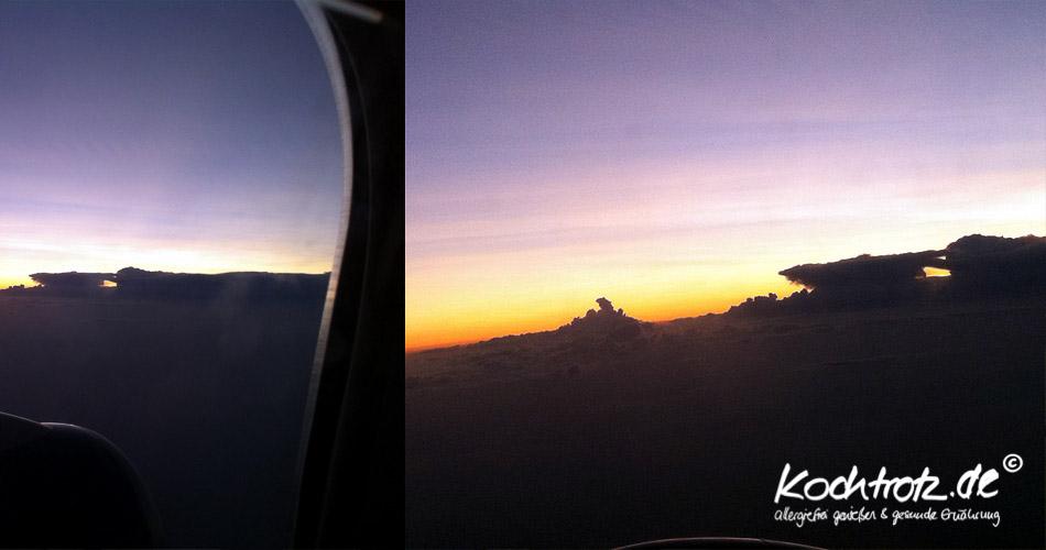 Sonnenuntergang Flug