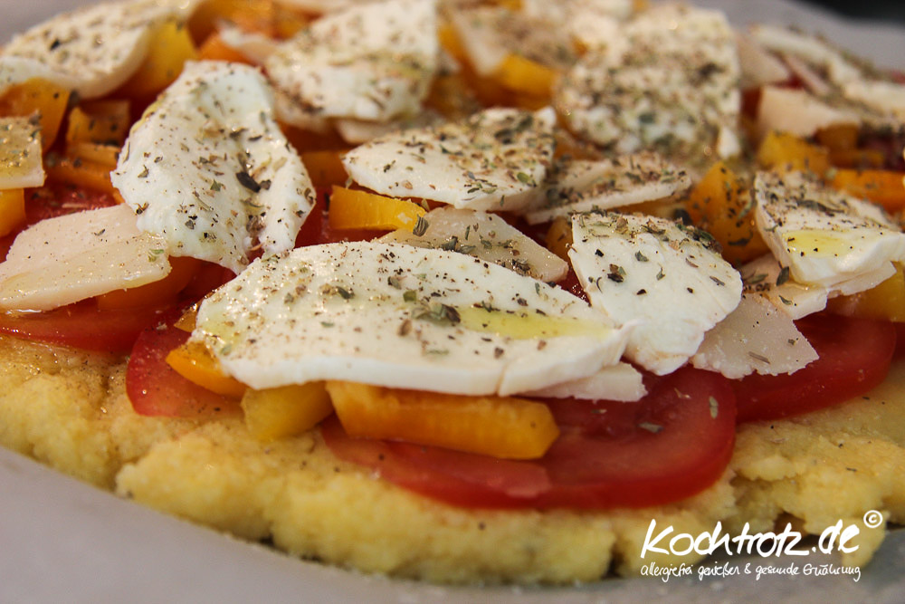 Polenta-Pizza glutenfrei & allergiearme Variante