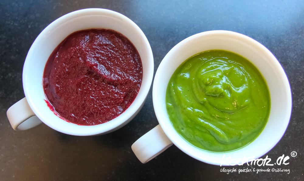 Gemüse-Mousse mit Rote Bete, Orange und Ingwer, laktosefrei und fructosearm