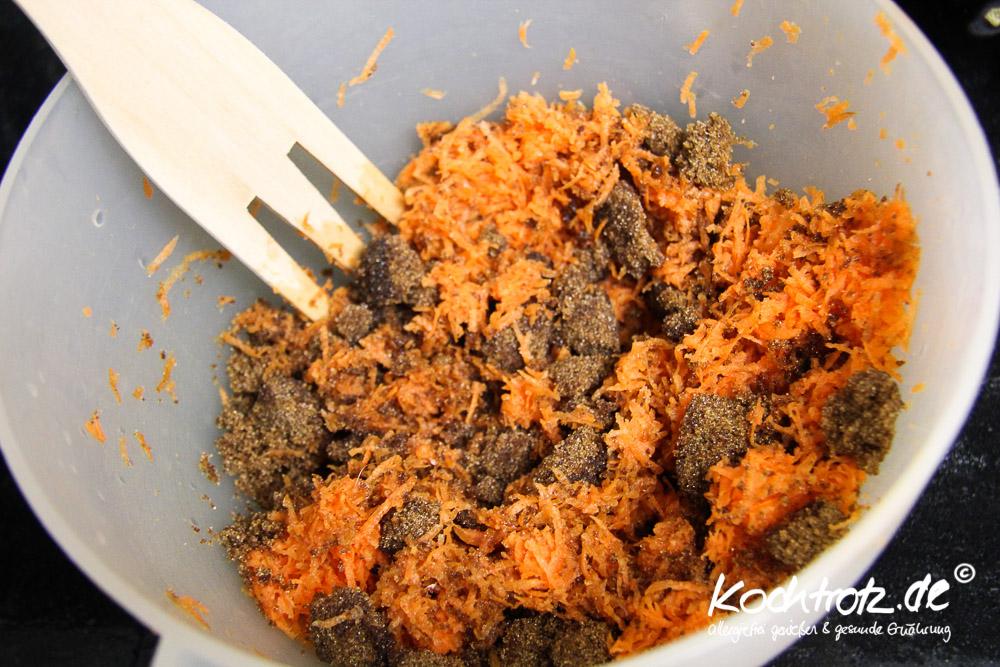 veganer Blondie-Brownie mit Karotten, glutenfrei