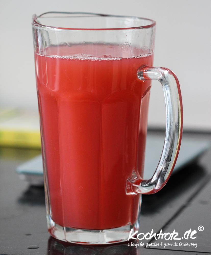 Rhabarber-Honigmelonen-Gelee fructosearm, histaminarm, vegan