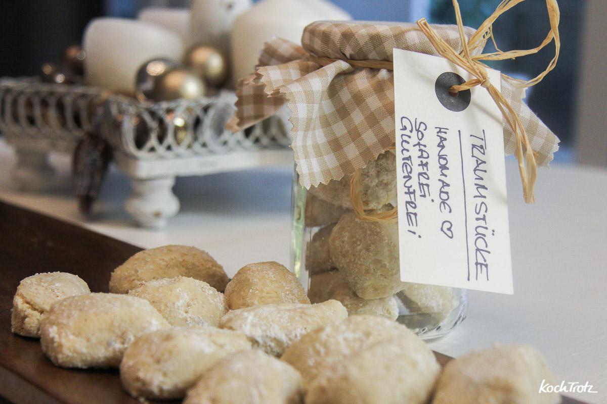 Glutenfreie Traumstücke mit Ei. Rezept für Plätzchen, die das ganz Jahr schmecken