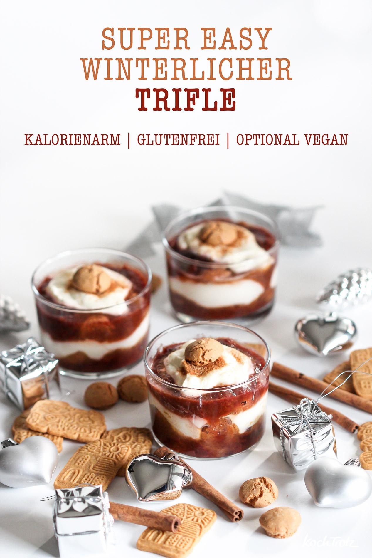 Dessert Zum Weihnachtsessen.Winterlicher Trifle Einfach Und Schnell Optional Glutenfrei Vegan Histaminarm Fructosearm