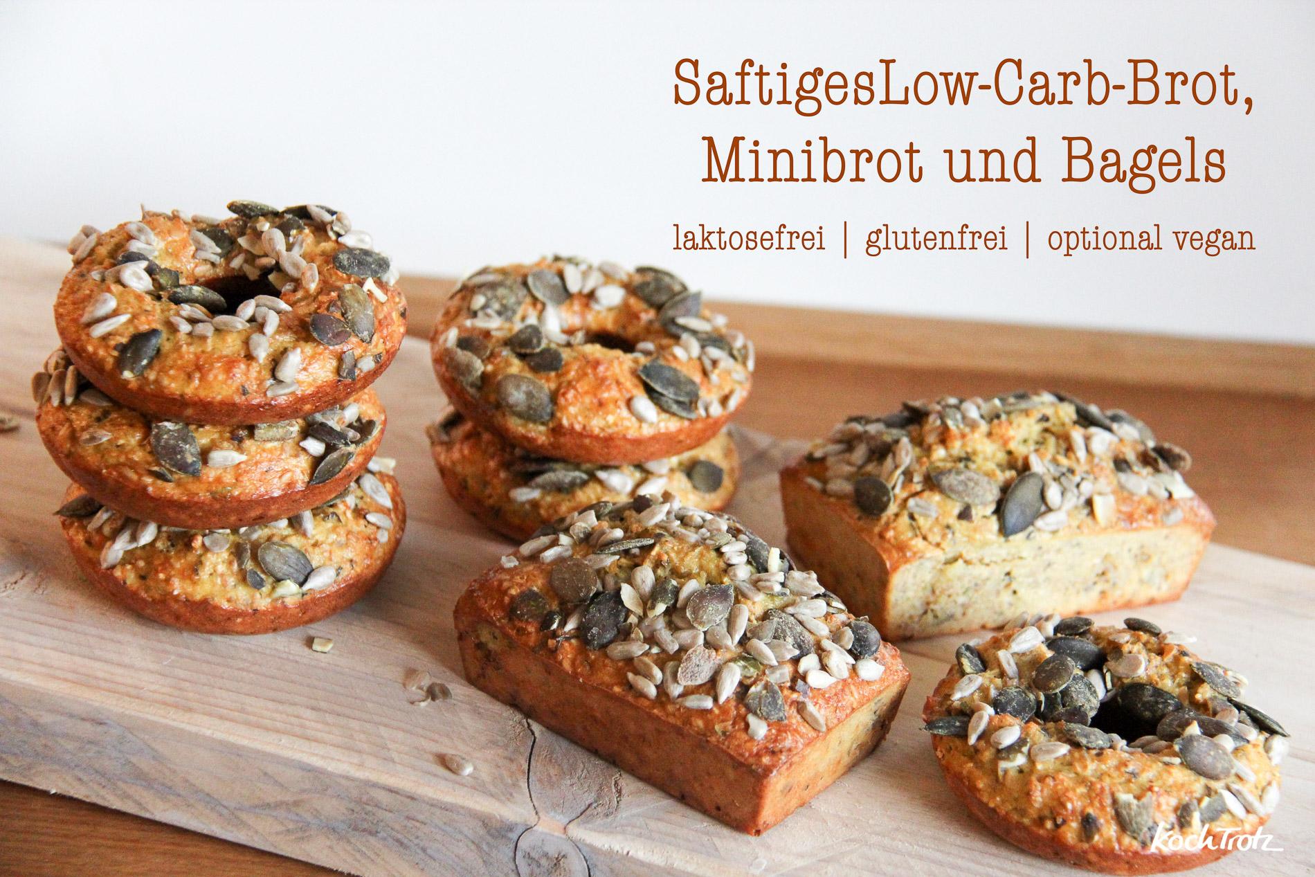 Saftiges Low Carb Brot Minibrot Oder Bagels Glutenfrei