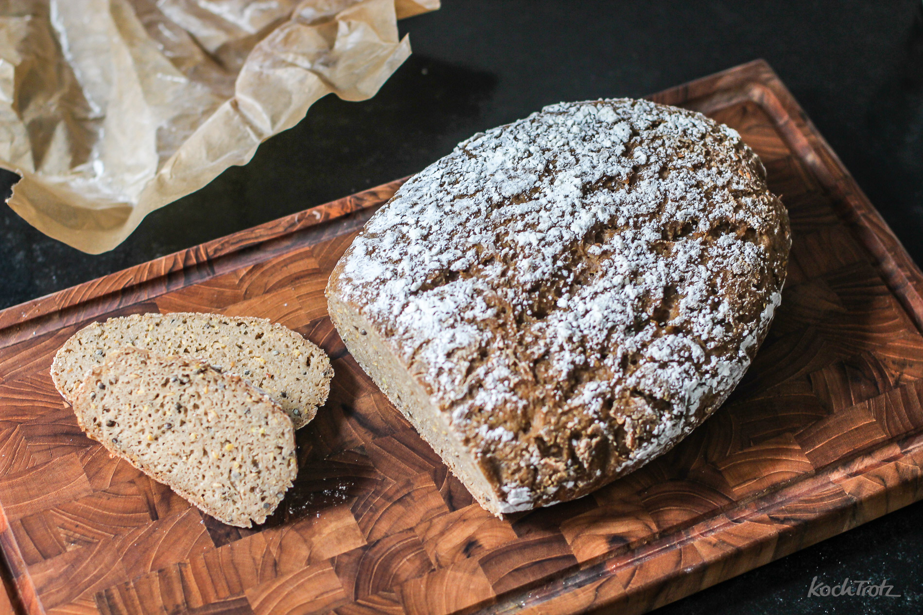 Max das Brot – Backen mit glutenfreiem Lievito Madre – variables Rezept – World Bread Day 2016