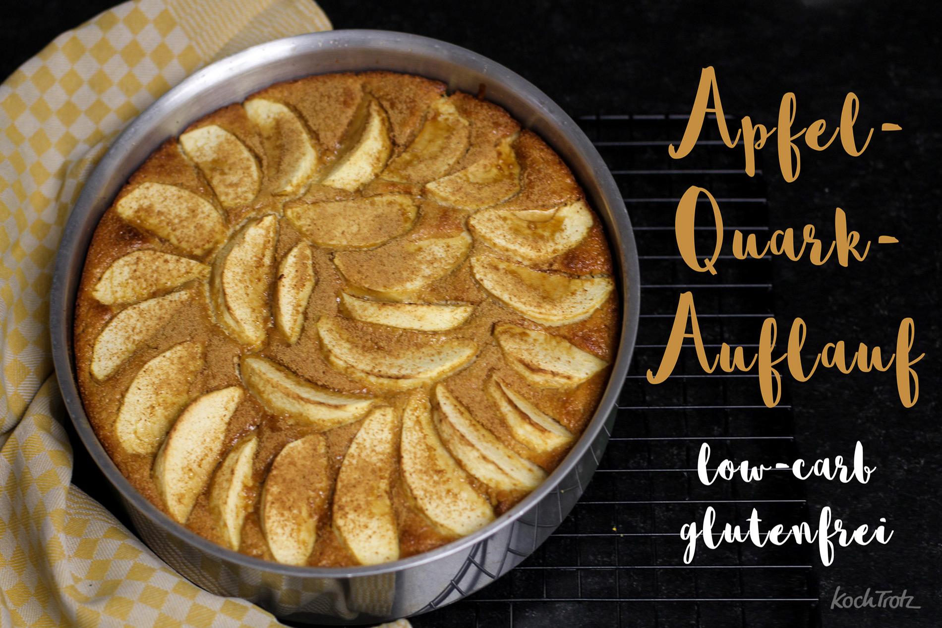 Rezept von Oma! Leckerer Apfelquark-Auflauf, auch glutenfrei und low-carb