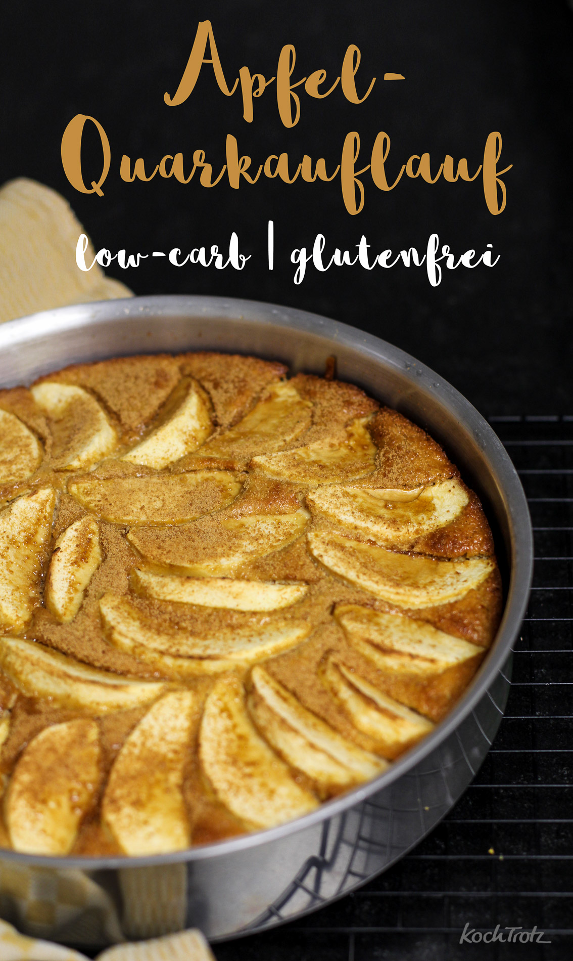 Einfacher Apfel-Quark-Auflauf | glutenfrei | optional low-carb