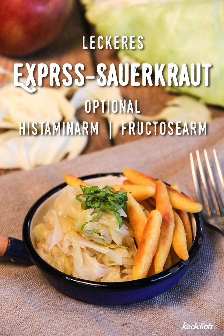 Express-Sauerkraut selbst gemacht - optional histaminarm, fructosearm