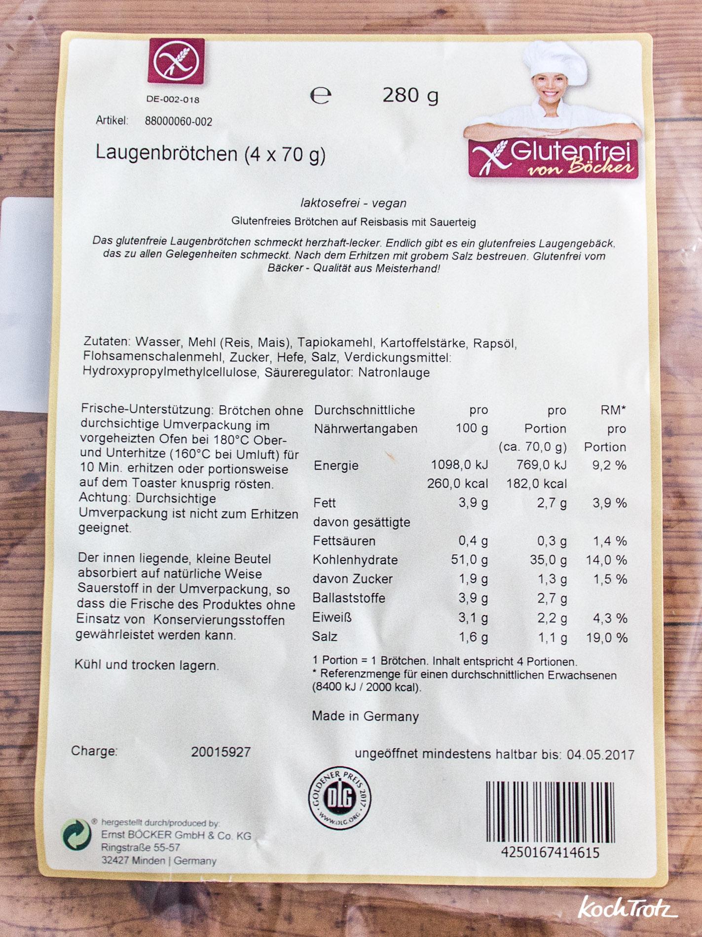 Produkttest | glutenfreie Backwaren von Böcker | glutenfreie Laugenbrötchen