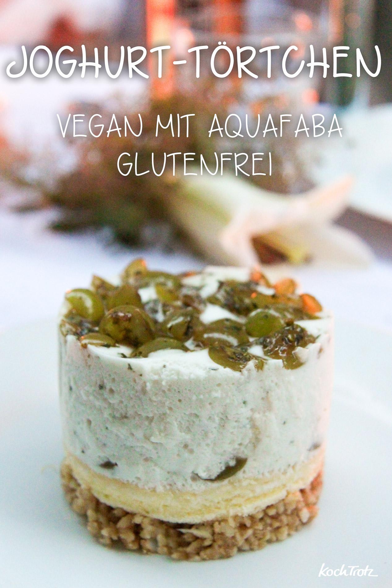 Joghurttörtchen | glutenfrei | vegan mit Aquafaba vegetarisch | von KochTrotz