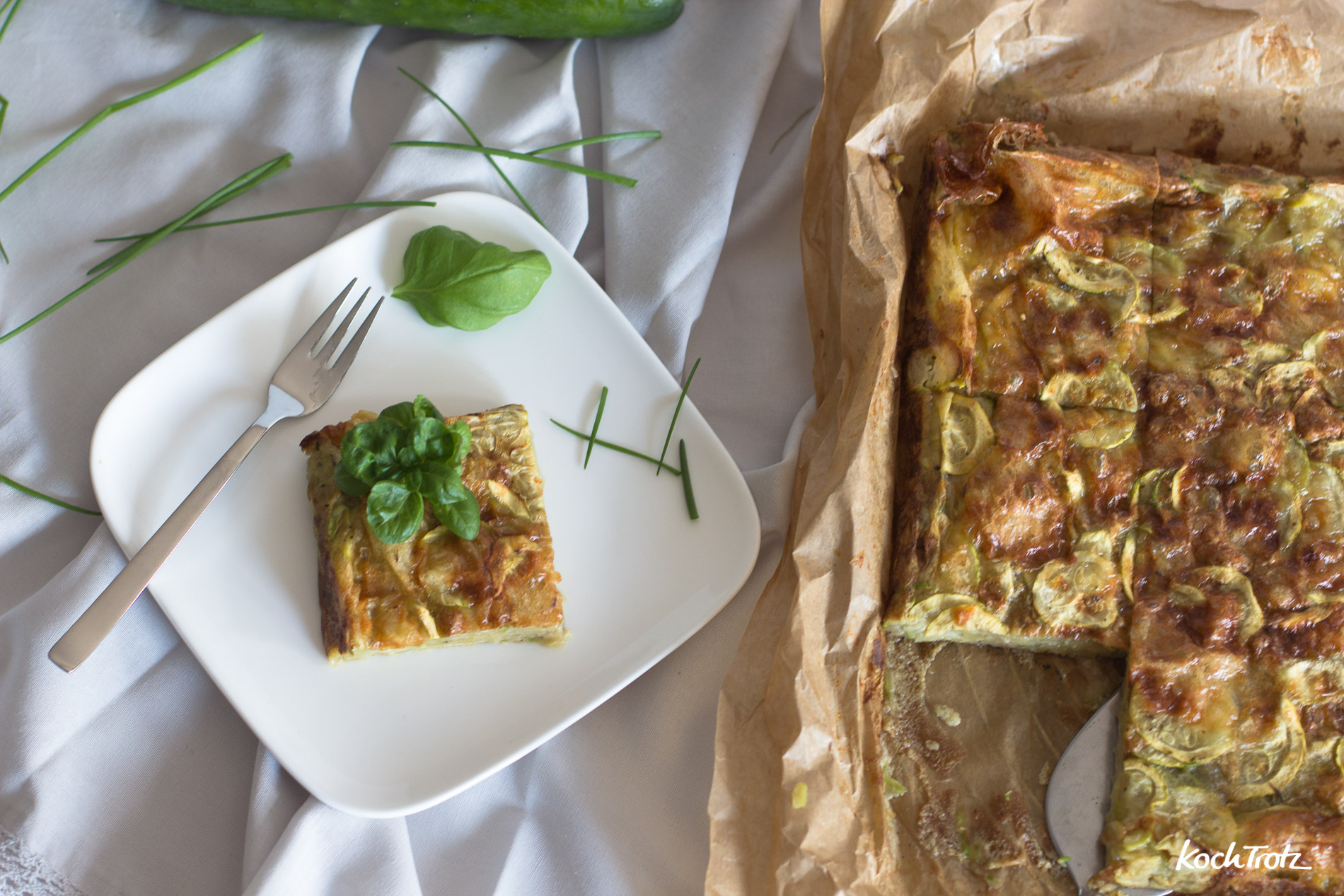 Gâteau invisible | Superkuchen mit Zucchini | ganz ohne Mehl | KochTrotz