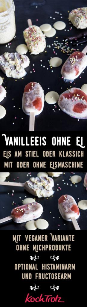 Vanilleeis ohne Ei | vegan oder vegetarisch | histaminarm | fructosearm