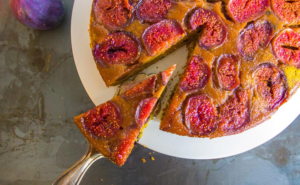 Feigen-Kürbis-Kuchen upside down | glutenfrei | ohne Fertigmehle
