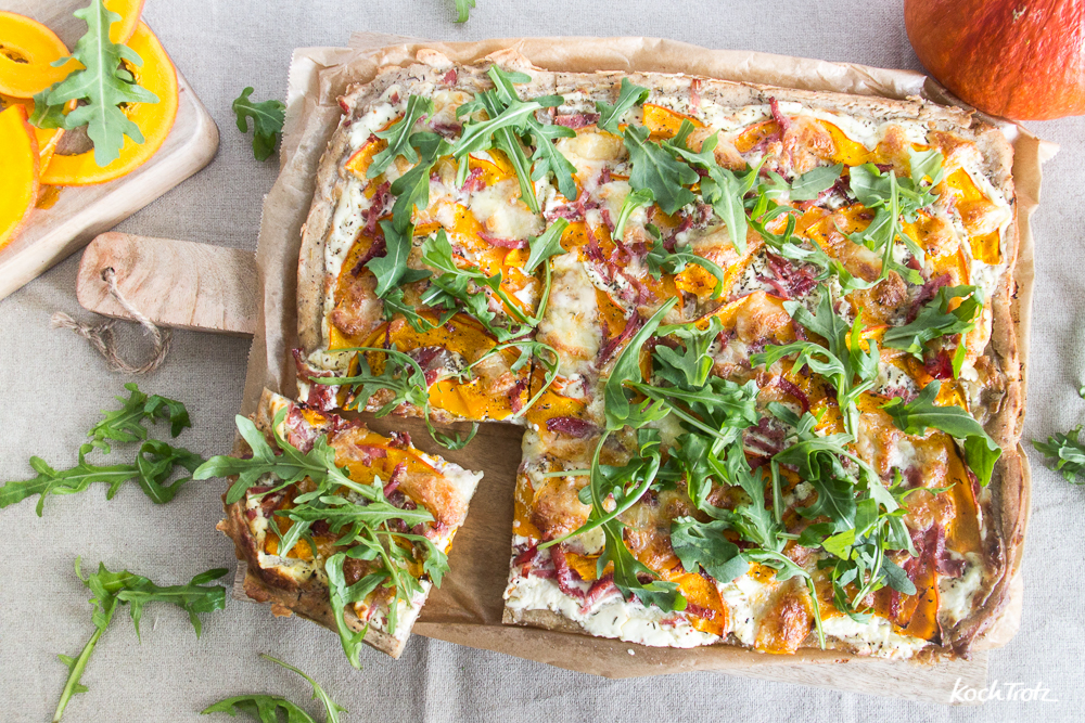 super leckere Brotpizza mit Kürbis | einfaches Rezept | glutenfrei | laktosefrei | eifrei | sojafrei
