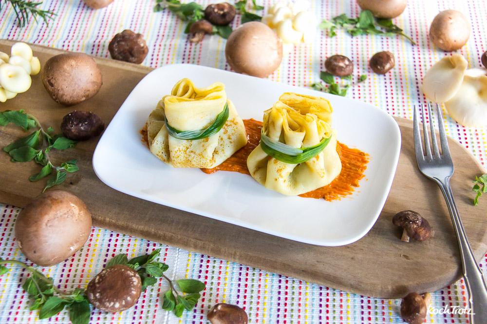 Crêpes Surprise | herzhaft gefüllte Crêpes als Vorspeise für ein Menü | glutenfrei | laktosefrei