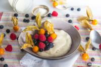 Grießbrei mit selbst gemachtem Reisgrieß | glutenfrei | laktosefrei | histaminarm | vegan