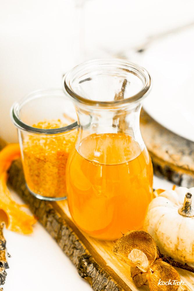 confiertes Kürbisöl selbst herstellen | Geschenke aus der Küche | lecker und einfach
