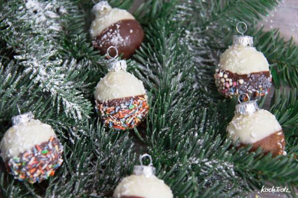 Essbare Weihnachtskugeln ohne Backen | tolles Geschenk aus ...