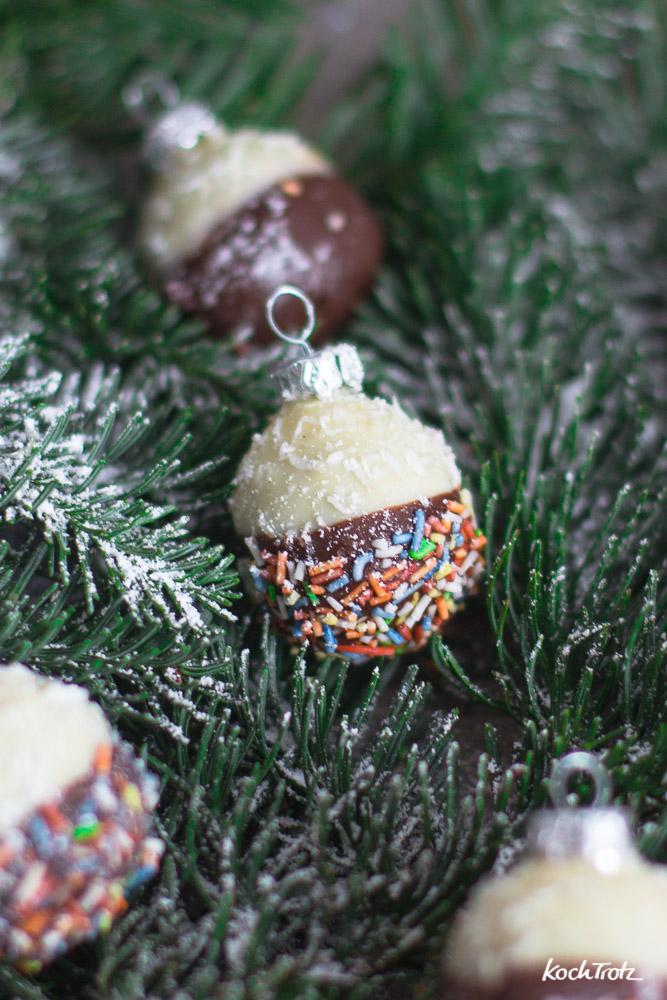 Essbare Weihnachtskugeln | ohne Backen | ohne Mehl | glutenfrei | eifrei | laktosefrei