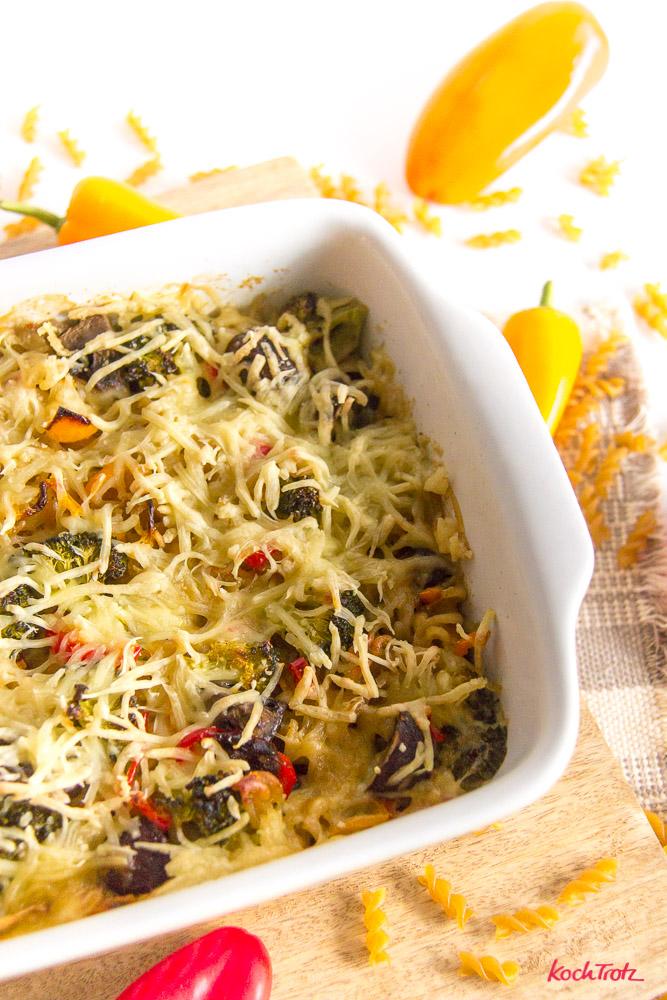 One Pot Nudelauflauf mit Teff Fusill | glutenfrei | laktosefrei