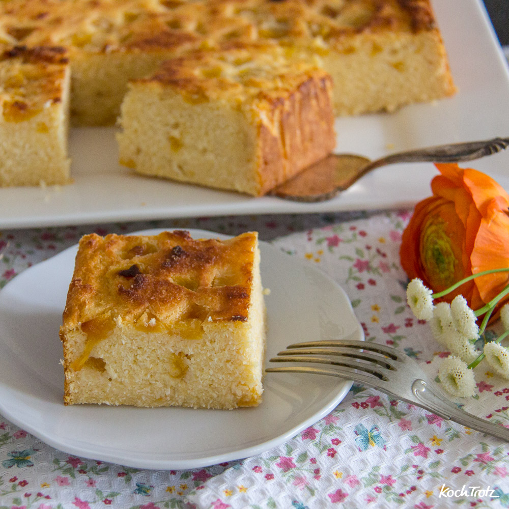 Kokos-Polenta-Kuchen glutenfrei vegan