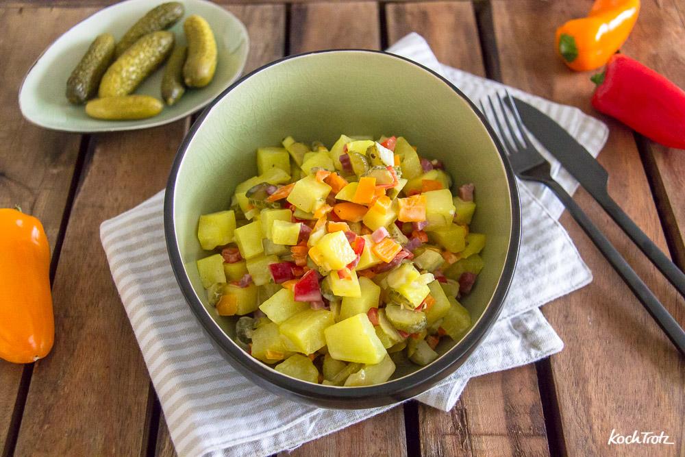 Falscher Kartoffelsalat mit Mayonnaise ohne Öl