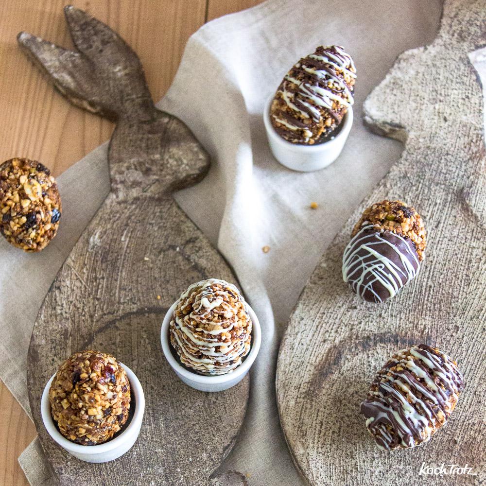 Granola-Eier, einfach und schnell gemacht. Tolles Ostergeschenk aus der Küche