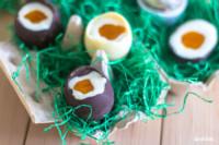 selbstgemachte Cheesecake-Schokoladen-Eier