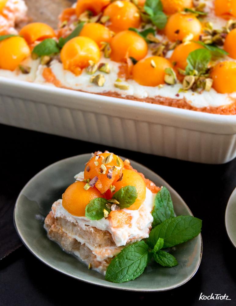 Melonen-Tiramisu | optional glutenfrei und vegan