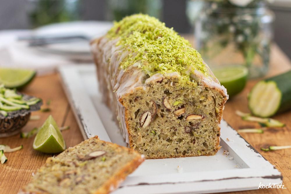Limetten-Zucchini-Kuchen | ohne Milchprodukte | optional glutenfrei