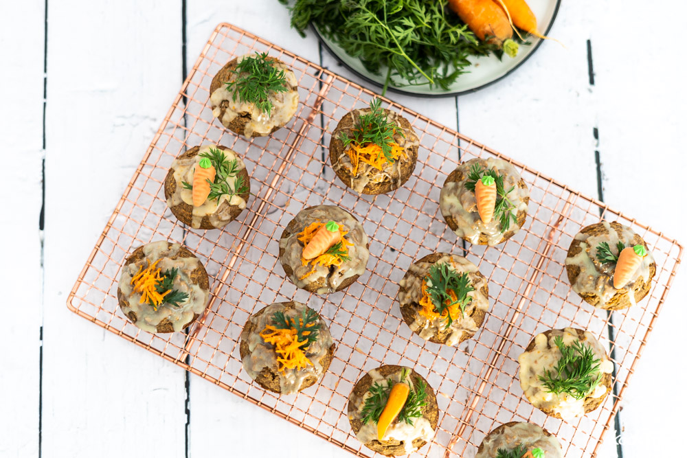 Glutenfreie Karottenmuffins