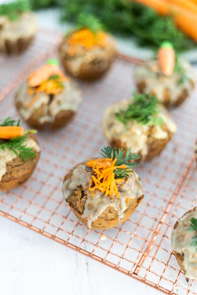 Karottenmuffins mit Kochbananenmehl | glutenfrei