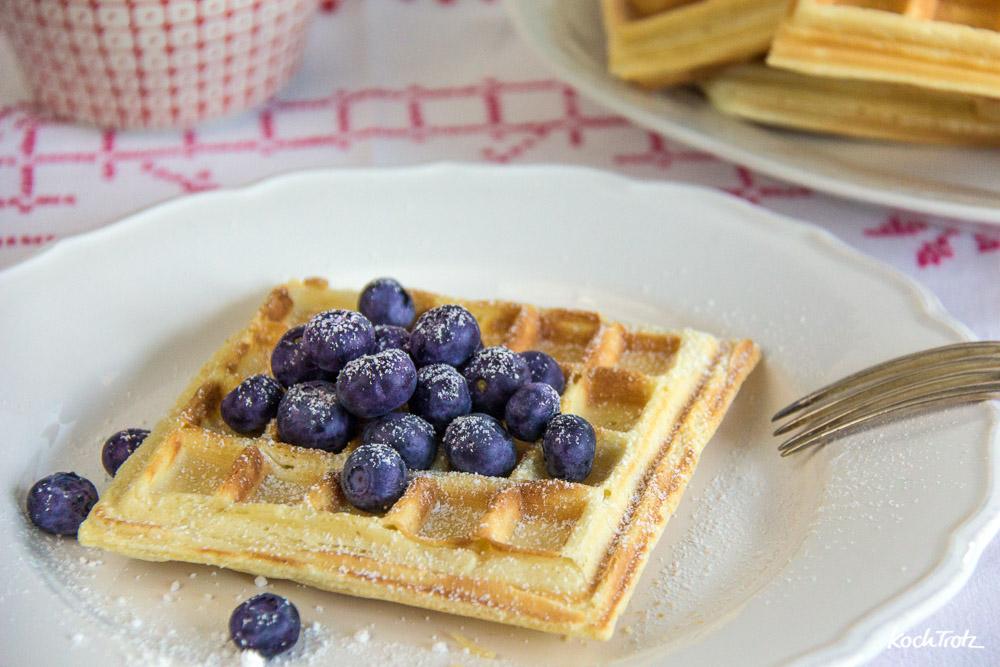 glutenfreie belgische Waffeln ohne Fertigmehlmischung