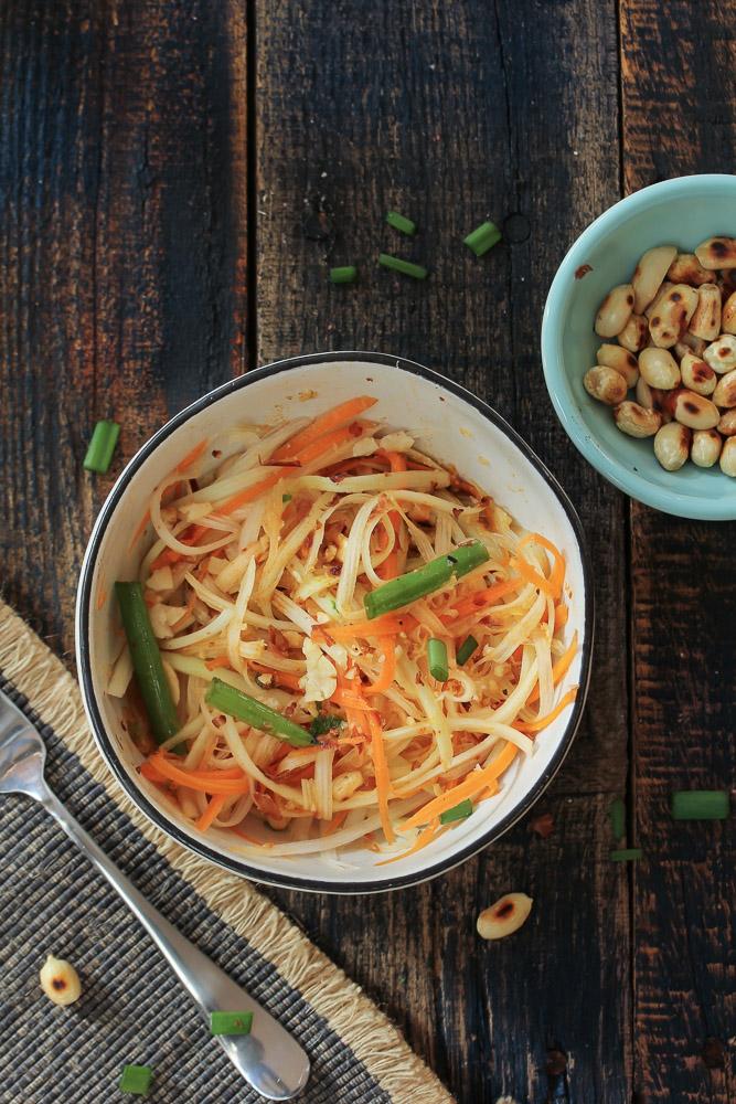 Grüner Papaya Salat