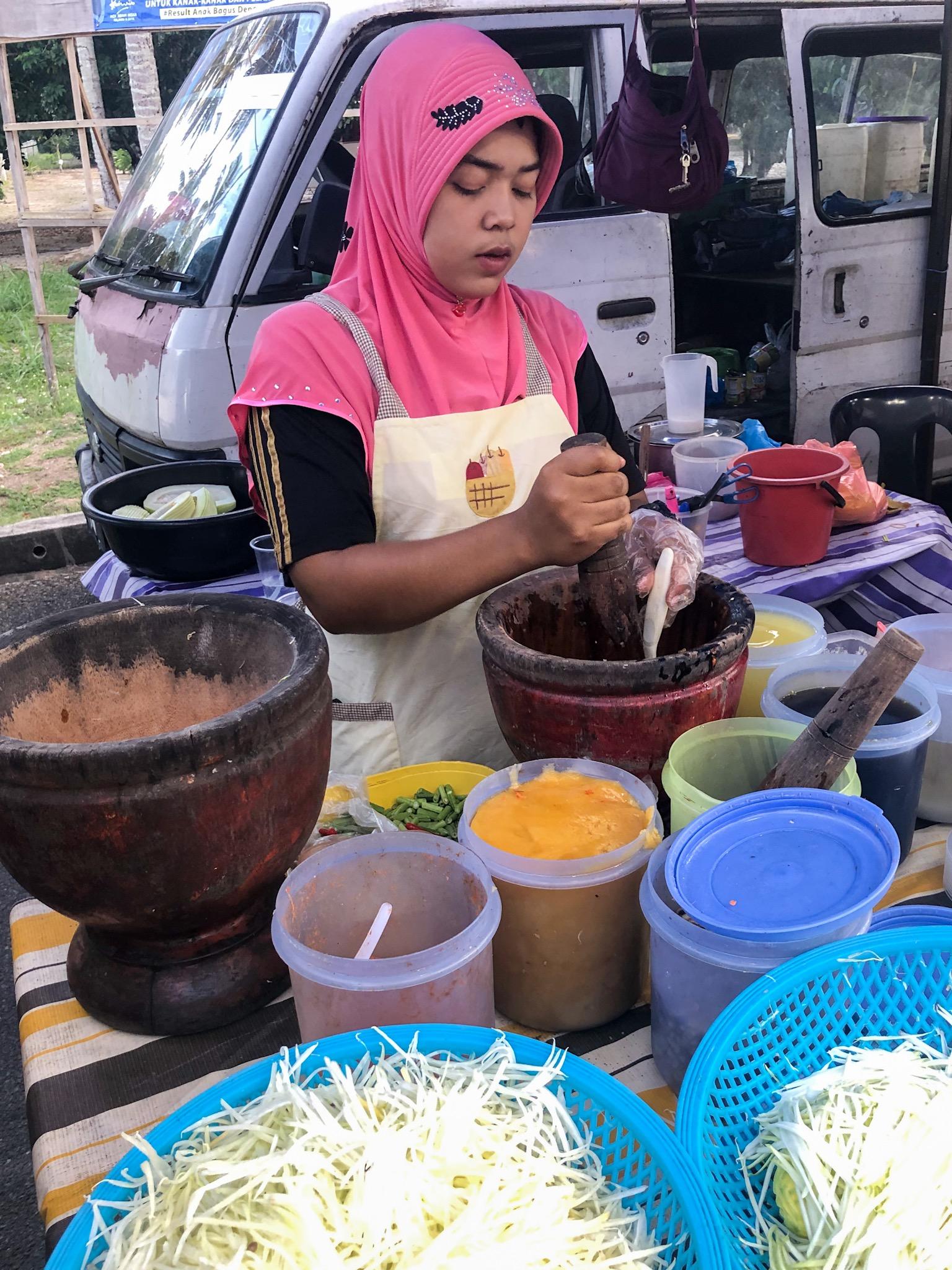 Tom Sam | Grüner Papaya Salat | Night Market | Langkawi | Malaysia