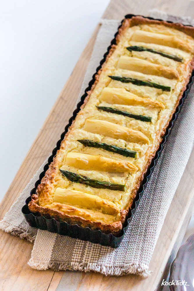 low carb Spargeltarte | optional glutenfrei | optional laktosefrei