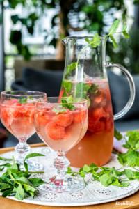 Melonen-Sangria mit vielen Varianten | l alkoholhaltig oder alkoholfrei | zuckerfrei | fructosearm | low carb