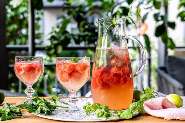 Sommerliche Melonen-Sangria | optional alkoholfrei, fructosearm und histaminarm