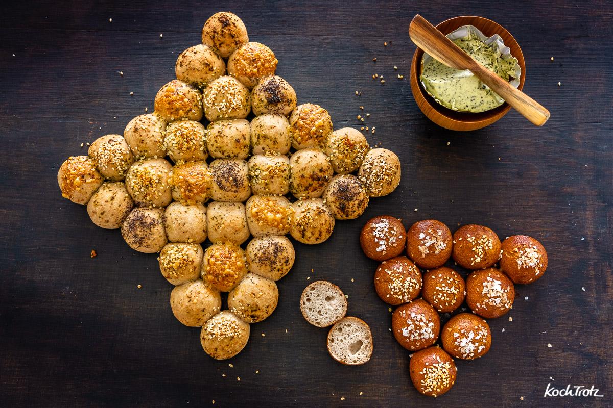Partybrot | Bubble Bread glutenfrei und vegan | ohne Fertigmehlmischung
