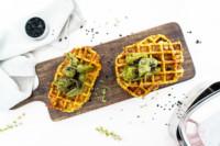 Brokkoli-Waffeln mit Käse | gesunde Gemüsewaffeln | opional glutenfrei