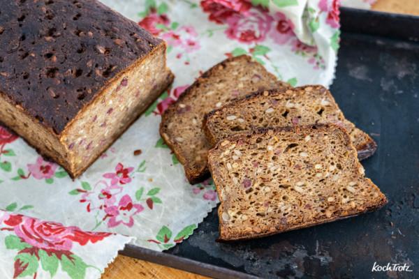 Herzhaftes glutenfreies Brot mit Bier – ohne Fertigmehlmischung – alkoholfrei