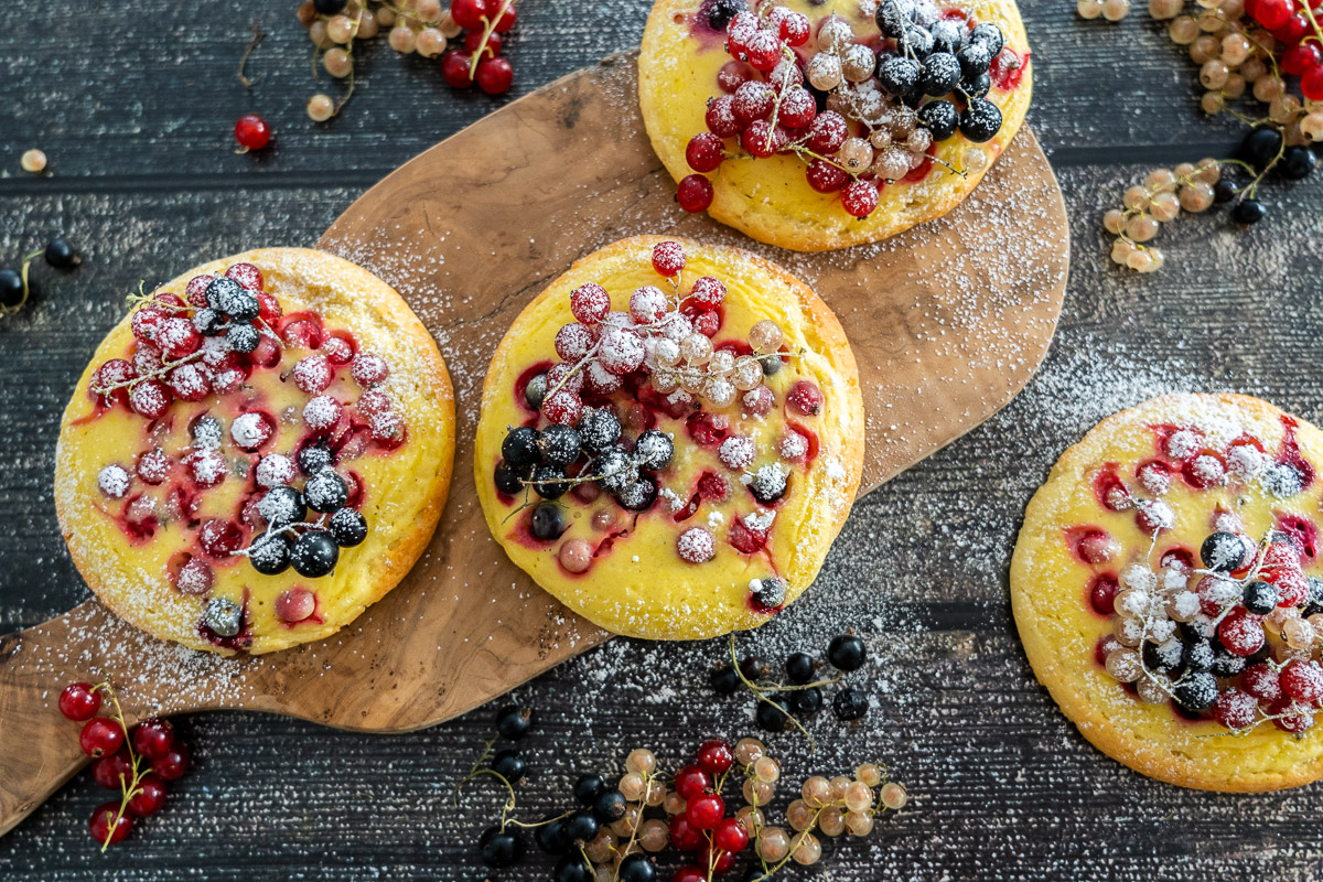 glutenfreie Puddingteilchen | ohne Fertigmehlmischung | mit Früchten | optional eifrei