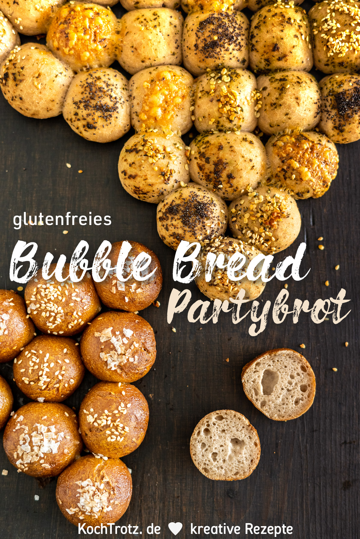 KochTrotz TOP5 in 2019 | Platz 4 | Rezept Bubble Bread | glutenfreies Partybrot ohne Fertimehlmischung
