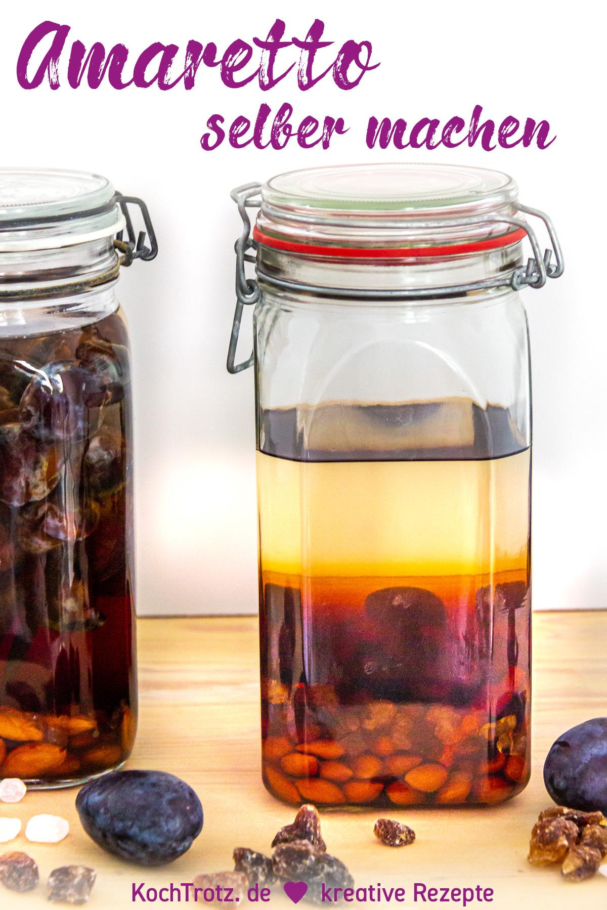 KochTrotz TOP5 in 2019 | Platz 1 | Rezept Amaretto selber machen aus Pflaumenkernen oder Kirschkernen
