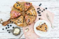 Rezept Heidelbeer-Scones | glutenfrei oder normal | britisches Teegebäck | Blueberry Cream Scones