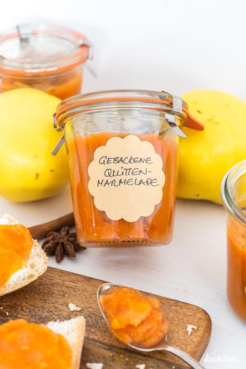 Rezept gebackene Quittenmarmelade | ganz einfach und wenig Arbeit